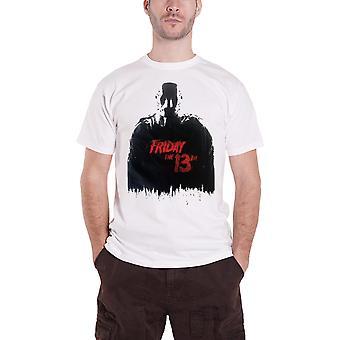 Friday The 13th T Shirt Jason Movie Logo Horror new Official Mens White