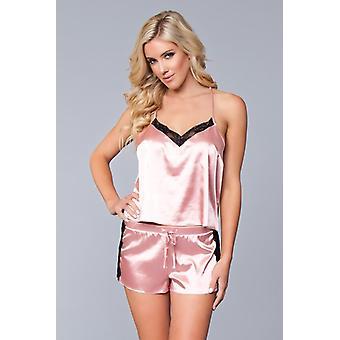 Jasmina Shirt & kurze Set - rosa