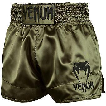 Venum Classic Muay Shorts tailandeses Khaki/Negro