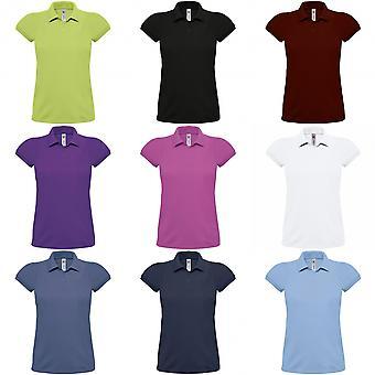 B & C Мужская/Женская Heavymill хлопок рубашки поло короткий рукав