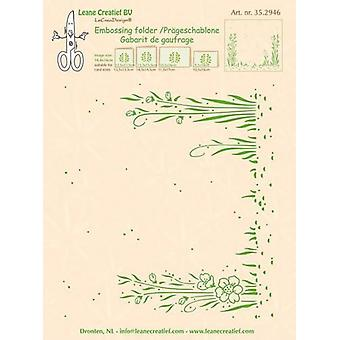 LeCrea - Embossing folder background Garden 35.2946 14,4x16mm