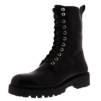 Womens Vagabond Kenova Combat Black Leather Military Winter Mid Calf Boot