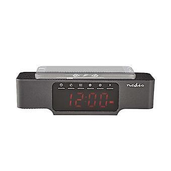 Digital clock radio with wireless charging
