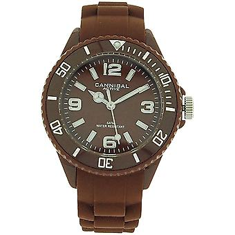 Cannibal Active Unisex Kids Brown Dial & Brown gumi szíj Watch CK215-29