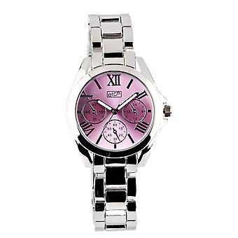Eton Womens Boyfriend Style Fashion Watch, Lilac Mock Chrono Dial - 3194L-LC