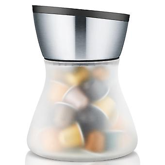 Blomus capsule CADDY, satin-frosted glass, stainless steel matt with plastic