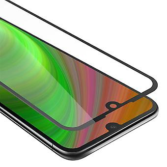 Cadorabo Full Screen Tank Foil for Honor 8S - Protective Film in TRANSPARENT with BLACK - Tempered Display Protective Glass in 9H Hardness with 3D Touch