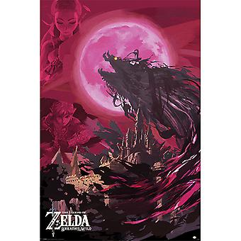 Zelda Breath Of The Wild Ganon Blood Moon Maxi Affiche
