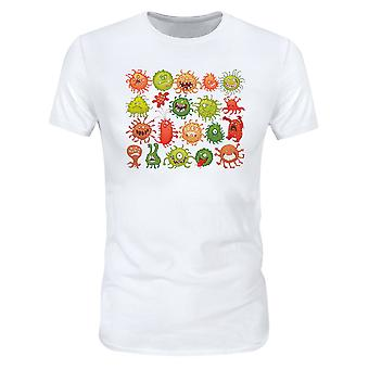 Allthemen Men & apos, s 3D tryckt virusmönster Fight Virus Kort T-shirt