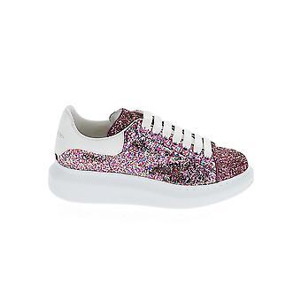 Alexander Mcqueen 558944w4ey85371 Kvinder's Pink Læder Sneakers