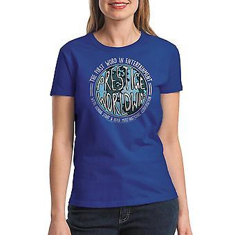 Step Brothers Prestige Worldwide Women's Royal Blue T-shirt