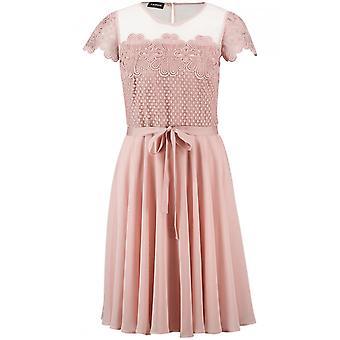 Taifun Rosa Spets detaljerad klänning