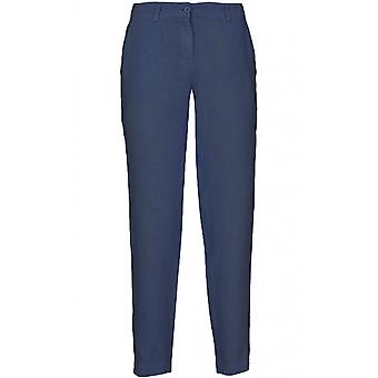 Backstage Dark Blue Linen Trousers