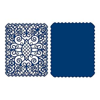 Tattered Lace Pattern Background Die Set