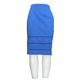 G.I.L.I. got it love it Skirt Pencil Skirt w/ Open Work Detail Blue A275548