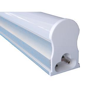 Jandei Led Rohr Typ T5 fein, 18W 1600 Lumen, 1200mm lang, weiß 4200K mit Halterungen und Kabel, Latealanschluss 175-265V