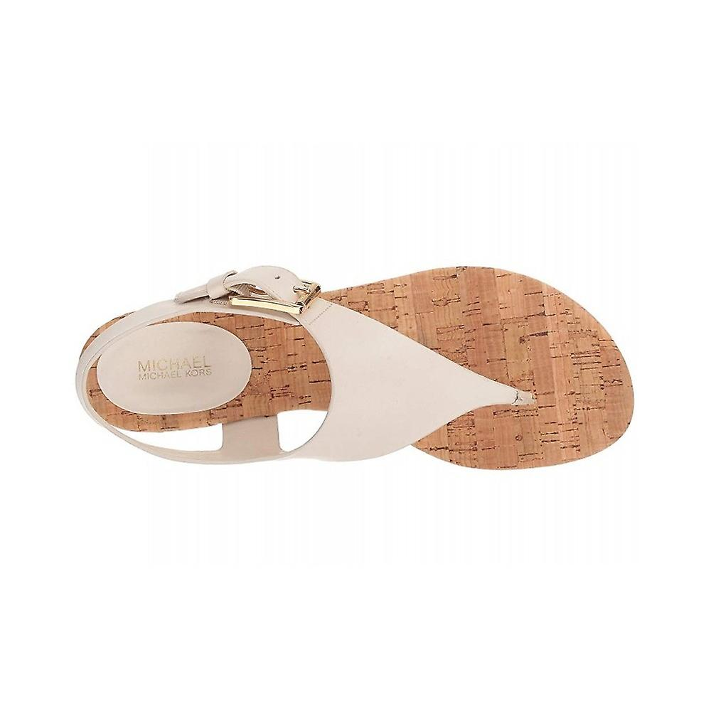 Michael Michael Kors Womens London Leather Split Toe Casual T-Strap Sandals