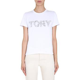 Tory Burch 73626102 Women''s White Cotton T-shirt