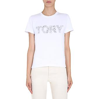 Tory Burch 73626102 Dames's White Cotton T-shirt