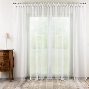 Gardine mit Schlaufen, weiss mit Bleiband, 300 × 260 cm, Voile, 901-00