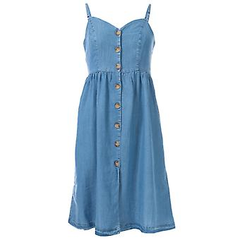 Women's Only Cuma Life Button Denim Dress in Blue