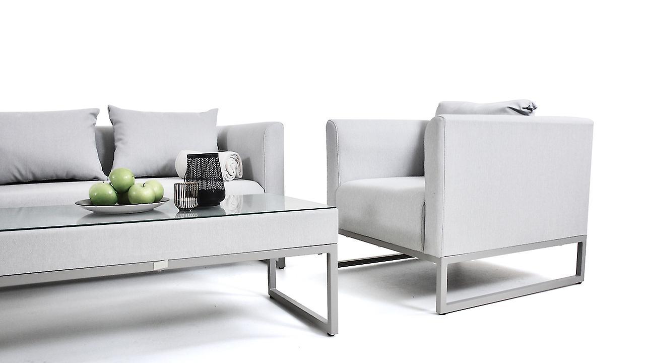 Textilene Sitzgruppe Lino - seidengrau
