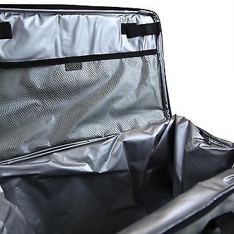 Charles Bentley grey Fabric 30L faltbare Cool Bag mit Top Griffen und verstellbarem Schultergurt