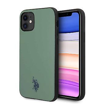 U.S. Polo Wrapped Backcover Hoesje iPhone 11 - Zwart