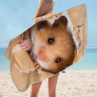 Cute Hamster Microfiber Beach Towel