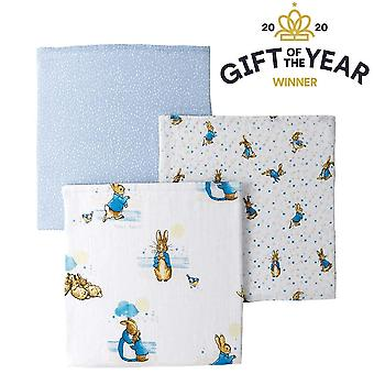 Beatrix Potter Peter Rabbit Baby Collection 3 Muslin Squares