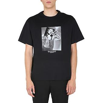 Neil Barrett Pbjt816sp531s1179 Men's Black Cotton T-shirt