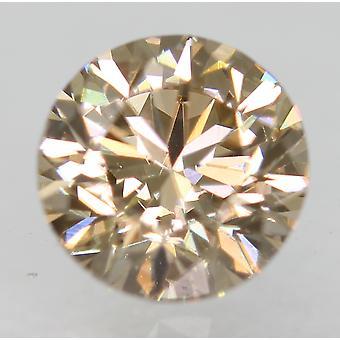 Cert 0.70 Carat Natural Fancy Brown VVS1 Round Brilliant Natural Diamond 5.53mm
