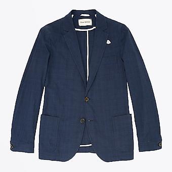 Oliver Spencer  - Theobald Check Jacket - Navy