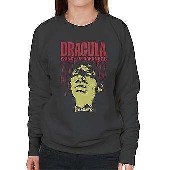 Hammer Dracula Prince of Darkness affisch kvinnors tröja