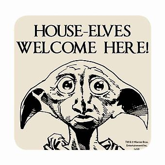 Harry Potter Coaster Dobby House elves welcome Here new Official