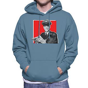 Elvis Presley firma sudadera con capucha de autógrafos ejército uniforme Pop Art hombres