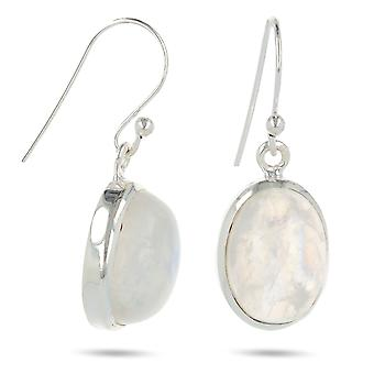 ADEN 925 Sterling Silver MoonOval Shape Earrings (id 3941)