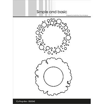 Simple and Basic Patterned Frames Circles Dies