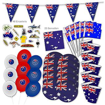 Australia Party Set XL 108-Piece voor 10 Gasten Party Australia Party Down Under Verjaardag Decoration Party Pakket