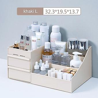 Large Capacity Cosmetic Storage Box - Makeup Drawer Organizer Container
