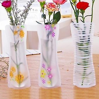 Portable Eco-friendly Flower Cute 3pcs Foldable Pvc Vase - Wedding, Office Home