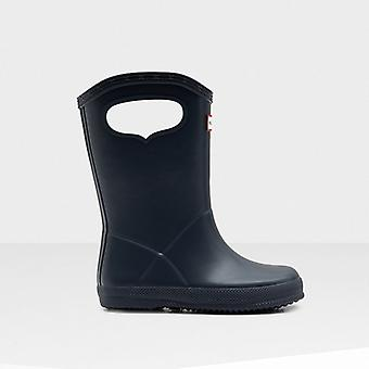 Hunter First Classic Pull-on Kids Rubber Wellington Boots Navy