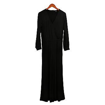 G.I.L.I. got it love it Women's Petite Long Sleeve Jumpsuit Black A350489