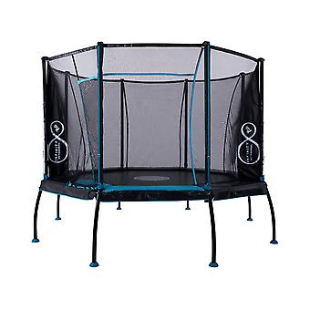 TP Toys Infinity 12ft Octagonal Trampoline Black/Blue Age 6 Years+