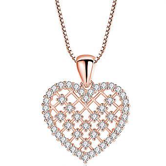Inlaid Zircon Love Necklace