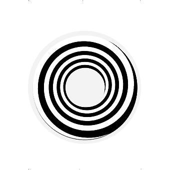 Lentes de contato de efeito especial Lentes Espiral preto, 1 dia