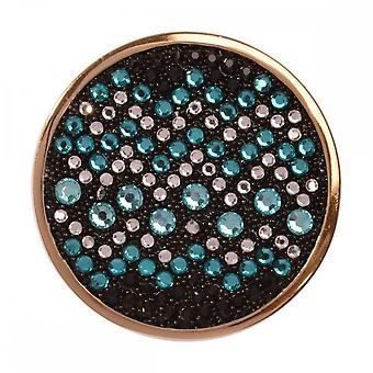 Nikki Lissoni Sentido de Glamour Luz Azul Médio Ouro Banhado Moeda C1340GM