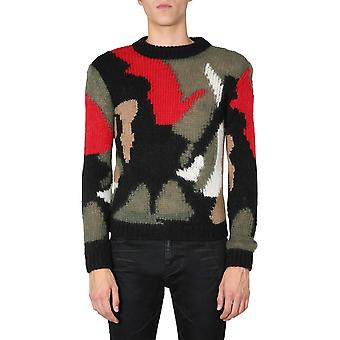 Saint Laurent 627313yaqr21052 Männer's Multicolor Wollpullover