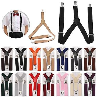 Suspenders With Bow Tie For Boys Girls Adjustable Straps