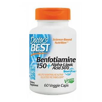 Leger Best Benfotiamine 150 + Alpha-Lipoic Acid 300, 60 Vcaps